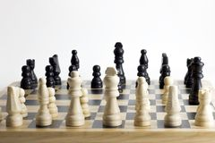 Chess game, close up. royalty free stock images