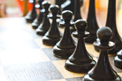 Chess game closeup abstraction Stock Photo