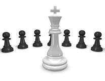 Chess game concept abstract 3d illustration. Royalty Free Stock Image