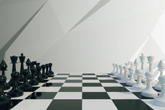 Chess game concept. Close up Stock Photo
