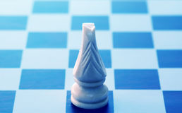 Chess game conceptual. Image with one knight stock photo