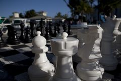Chess game in cuba Stock Photos