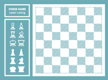 Chess game decorative laser cut. Royalty Free Stock Photos