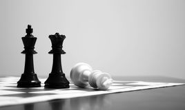 Chess Game Ending Royalty Free Stock Photo