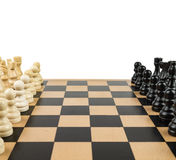 Chess Game. Chess figures, ready to start the game Royalty Free Stock Photo