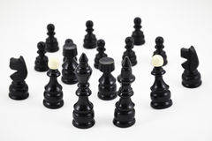 Chess game figurines Royalty Free Stock Photos