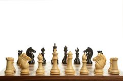 Chess game with focus on foreground Stock Photo