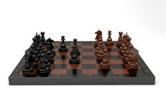 Chess. Game in full swing Royalty Free Stock Photo