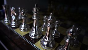 Chess Game. And funny game stock footage