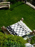 Chess game in a garden Stock Photography