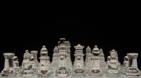 Chess game. Glass chess game, shallow depth of field Stock Photo