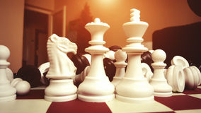 Chess. Game in The Home Royalty Free Stock Photography