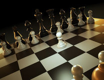 Chess game illustration royalty free illustration