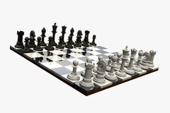 Chess Game - isolated Stock Photography