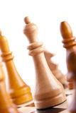 Chess game king strategy board Royalty Free Stock Image