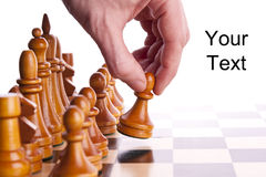 Chess game king strategy board Royalty Free Stock Images