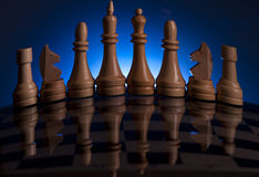 Chess game king strategy board Stock Image