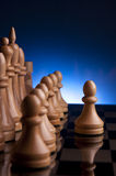 Chess game king strategy board Royalty Free Stock Photography