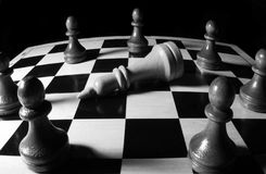 Chess game king strategy board Stock Images