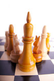 Chess game king strategy board Royalty Free Stock Photo