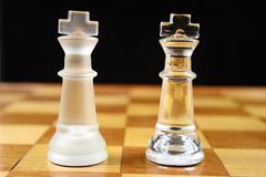 Chess Game - King V King Stock Photos