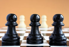 Chess game macro. Stock Image