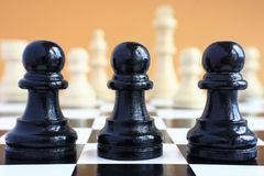 Chess game macro. Royalty Free Stock Photography