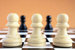Chess game macro. Stock Photos