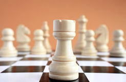 Chess game macro. Stock Photo