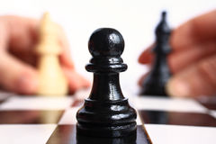 Chess game macro. Royalty Free Stock Photos