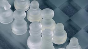 Chess Game Made by Glass. Video stock video