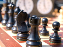 Chess game make the right move Royalty Free Stock Image