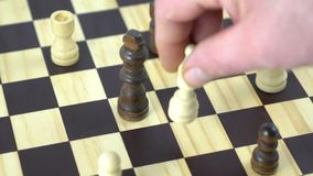 Chess game. Move in a chess game stock video