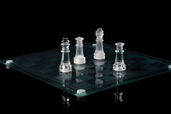 Chess game near end Royalty Free Stock Photography