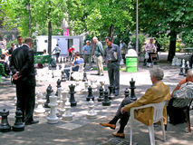 Chess game in park Royalty Free Stock Photography