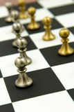 Chess game - pawns in rows, lined up Stock Photos