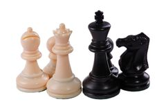 Chess game pieces Stock Image