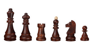 Chess game pieces Royalty Free Stock Images