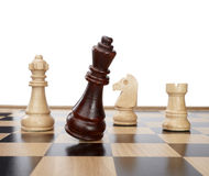 Chess game pieces Stock Images