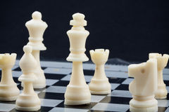 Chess game. Planning game or serious game Stock Images