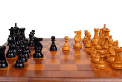 Chess game in progress Royalty Free Stock Images