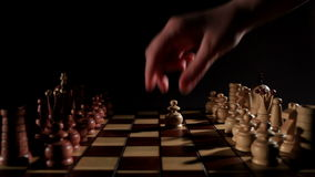 Chess game. Real time. stock footage