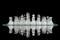 Chess Game Reflection Stock Photos