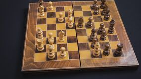 Chess game stop motion -strategic planning concept.