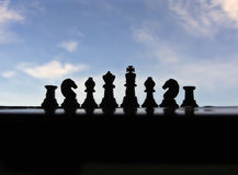 Chess. The game of strategy Royalty Free Stock Photography