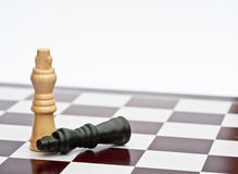 Chess game of strategy business concept Royalty Free Stock Images