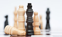 Chess game of strategy business concept Stock Photography