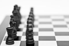 Chess game of strategy business concept Royalty Free Stock Image