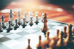 Chess game of successful business leader concept Royalty Free Stock Photo