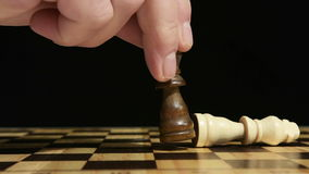 Chess game stock video
